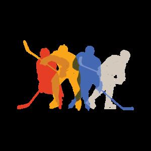 Eishockey Fan Shirt mit Eishockey Spielern