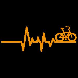 Fahrrad Radsport Herzschlag Heartbeat Geschenk