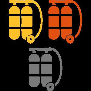 Sauerstoffflaschen