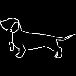 Rauhaardackel Zeichnung mit Strichen Dackelfieber