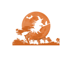 Halloween Hexe Mond Horror I Kürbis Hexen Vollmond