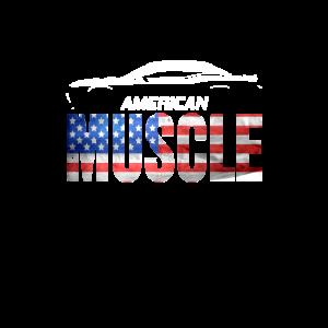 American Muscle US Car I Vintage Retro V8 Design