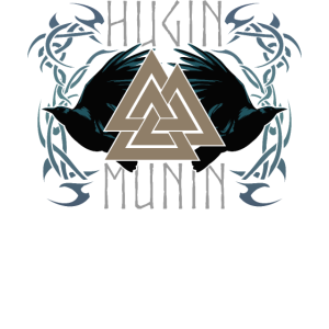 Hugin und Munin Wikinger Heidentum Asatru Raben