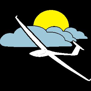 segelfliegen tshirt segelflieger logo gleiten