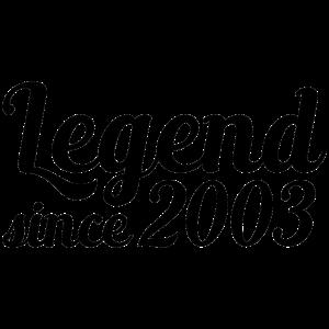 Legend since 2003 16 Jahre Geschenk
