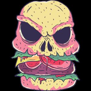 Skelett Burger Halloween