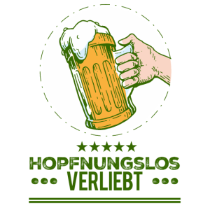 hopfnungslos verliebt Bierglas für Bier Fans