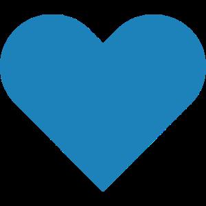 Herz // Liebe // Heiraten // Hochzeit // Blau