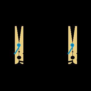 Wäscheklammern an der Leine / Pegs on Line (3c)