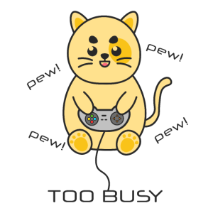 Cat Gaming Gamepad pew too busy