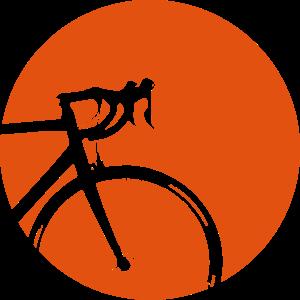 Rennrad vor Mond