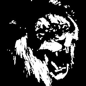 Loewe Wuetend schwarz Löwe Brüllend
