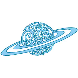Blaue Spirale Planeten