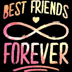 beste freunde für immer herz bunt