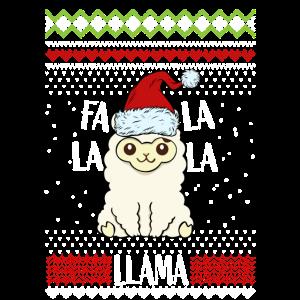 Weihnachten Santa Lama