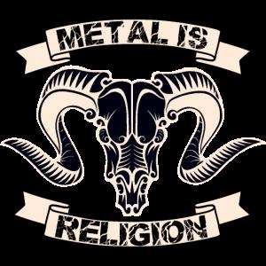 Metal Schädel Religion