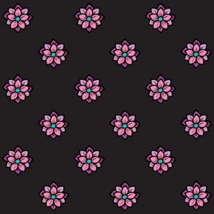 farbige Mausunterlage buntes Mousepad Blumenmuster