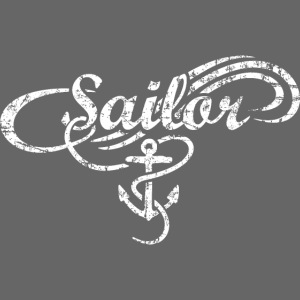 Sailor Waves Anker Vintage Segel Design (Weiß)