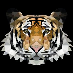 Low Poly Polygon Tiger