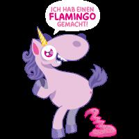 Einhorn Flamingo gemacht