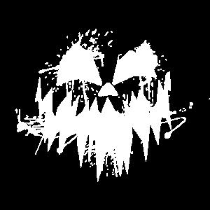 Kürbis Gesicht weiss Halloween