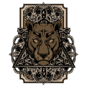 Steampunk Panther Retro Cyber Punk Geschenk