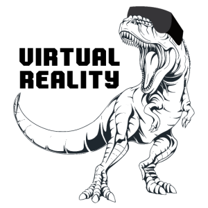 T-Rex VR T-Shirt der virtuellen Realität