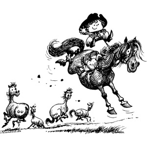 Thelwell 'Cowboy Western riding'