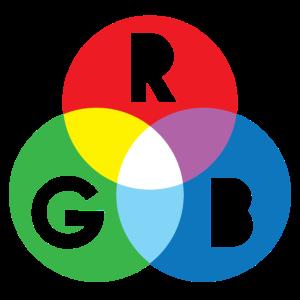 RGB-Rot-Grün-Blau-Bildschirm Farbschema