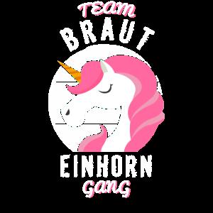 JGA Einhorn Team Braut, Jungesellenabschied Gang