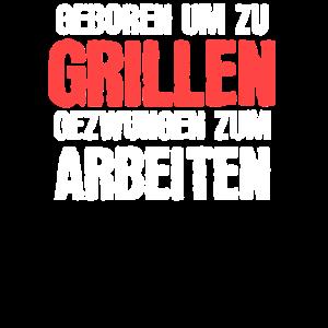 Griller T-Shirt Lustiger Spruch BBQ und Grill Fans