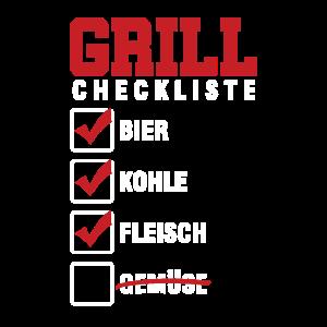 Grill Checkliste Grillen Grillmeister BBQ Geschenk
