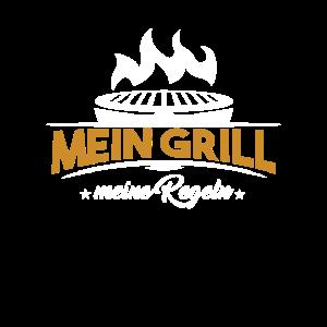 Mein Grill Meine Regeln Grillmeister BBQ Geschenk