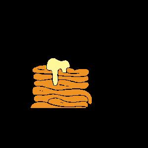Pancake Lover Pfannkuchen Sirup Design schwarz