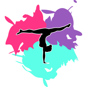 Turnen, Turnerin und Farb Splash