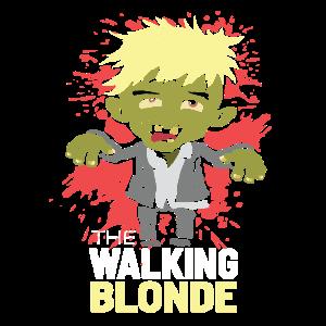 Boris Johnson Zombie Walking Blonde
