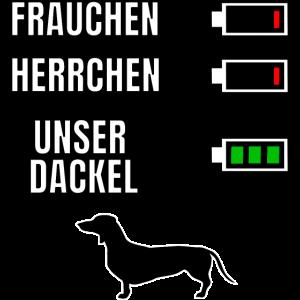 Dackel Herrchen Frauchen Spruch Akku Batterie