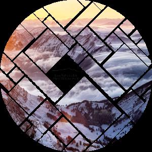 Schweizer Alpen Berglandschaft Geometrie Kreis
