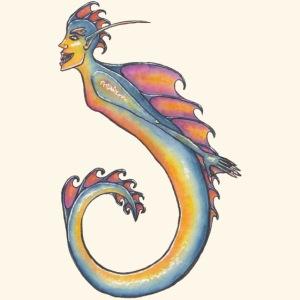 Färgglad sjöjungfru