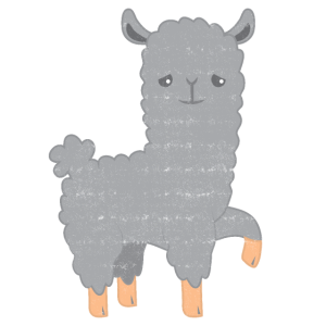 graues Lama (Distressed-Effekt rau)