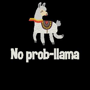 Lama-Shirt kein Prob Lama lustiges Lama-Liebhaber-Geschenk