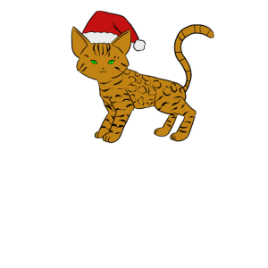 Bengalkatze Weihnachtsmütze Bengal Katze Xmas