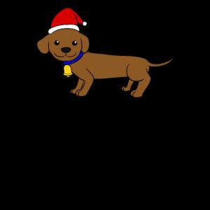 Dackel Weihnachtsmütze