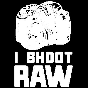 I Shoot raw Fotograf Fotokamera Fotografen Spruch