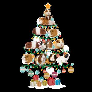 Guinea Pigs Lovers Christmas Pine Tree