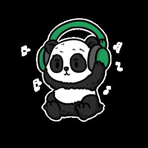 Panda mit Kopfhörer Musik Shirt für Musiker