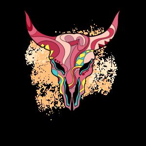 Womens Street Style Bull Skull
