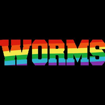 Worms Regenbogenfahne - Worms ist bunt. - transgender,queer,lesbisch,homosexuell,bunt,bisexuell,bisexual,Worms,Tolleranz,Stadt,Schwule,Rheinland-Pfalz,Regenbogenflagge,Regenbogenfahne,Regenbogen,Lesben,LGBT,Germany,Gay pride,Deutschland,CSD