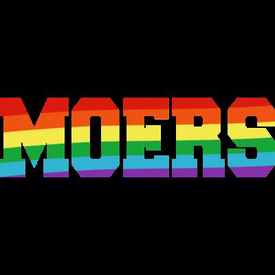 Moers Regenbogenfahne - Moers ist bunt. - transgender,queer,lesbisch,homosexuell,bunt,bisexuell,bisexual,Tolleranz,Stadt,Schwule,Regenbogenflagge,Regenbogenfahne,Regenbogen,Nordrhein-Westfalen,Moers,Lesben,LGBT,Germany,Gay pride,Deutschland,CSD