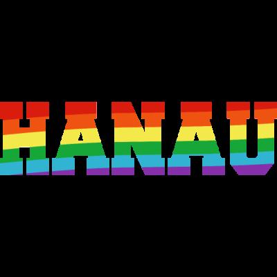 Hanau Regenbogenfahne - Hanau ist bunt - transgender,queer,lesbisch,homosexuell,bunt,bisexuell,bisexual,Tolleranz,Stadt,Schwule,Regenbogenflagge,Regenbogenfahne,Regenbogen,Lesben,LGBT,Hessen,Hanau,Germany,Gay pride,Deutschland,CSD